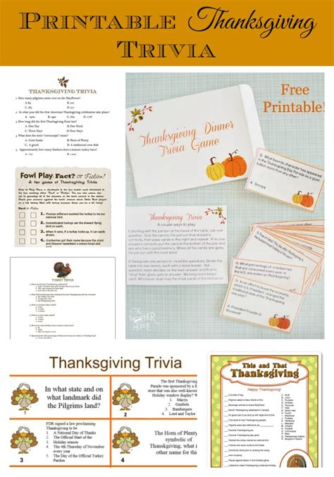 pretiie parties thanksgiving t trivia 20 printable thanksgiving my pinterventures
