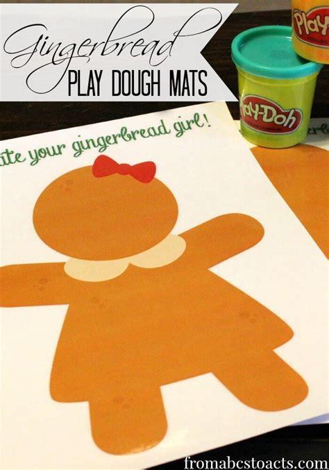 printable gingerbread man playdough mats 137 best gingerbread man activities images on pinterest