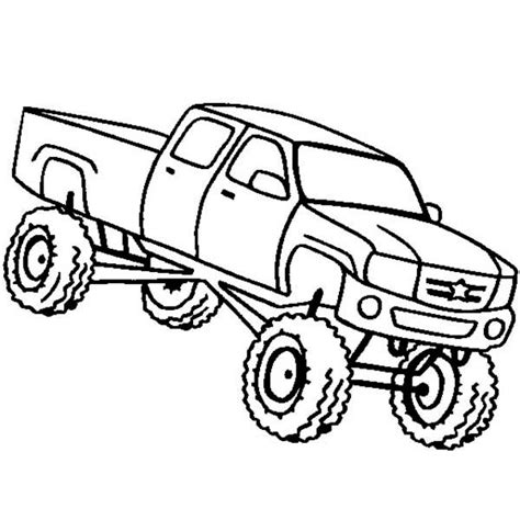 lifted truck coloring pages