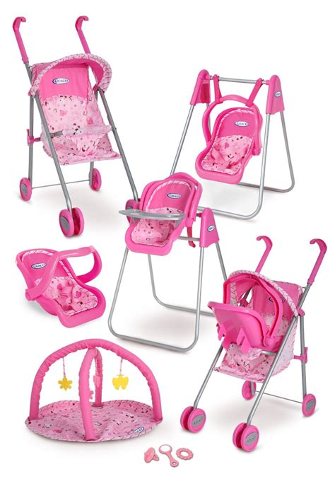 Baby Doll 1 Set graco play set stroller with canopy swing high chair playgym baby monitors and 3