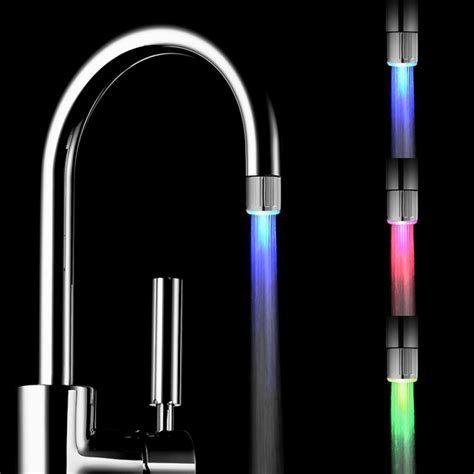 2018 fashion water faucet 7 colors changing led water