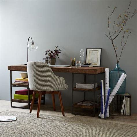 Hewn Wood Desk West Elm West Elm Small Desk