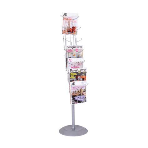 Free Standing Magazine Rack by Magazine Holder Literature Display