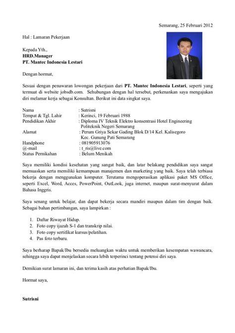 Lop Lamaran Kerja Ke Perusahaan by 25 Contoh Surat Lamaran Kerja Yang Baik Dan Benar Doc