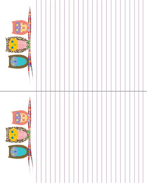 free printable owl letterhead 14 best images about free printable owl stationary on