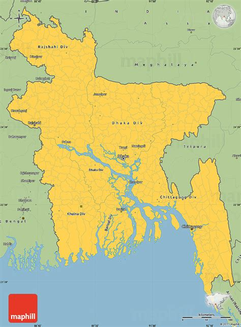 simple map of savanna style simple map of bangladesh