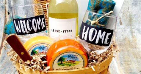 welcome to your new home gift ideas quot welcome to your new home quot gift basket gift baskets