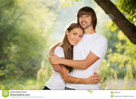 Couples Couples Attractive Together Outdoors Stock Image