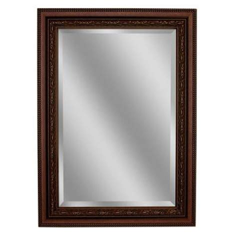 beaded frame mirror this generous scaled beveled mirror deco mirror addyson 30 in x 36 in single framed wall