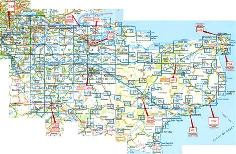 map uk kent kent a z atlas stanfords
