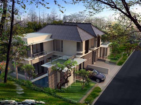 gambar desain villa contoh desain rumah villa minimalis modern terbaru