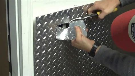 How To Lay Tile Backsplash In Kitchen part 1 installing aluminum diamond plate wall panels in