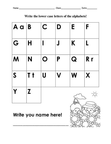 3rd Abcd Letters Writing