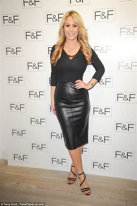 towie s kate wright weatrs skin tight leather skirt with