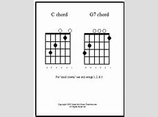 Big Guitar Chord Charts Make Chords Easy -- Free and ... G 7 Chord Guitar
