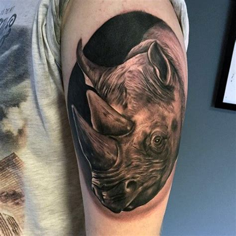 rhino tattoo 90 rhino designs for cool rhinoceros ink ideas