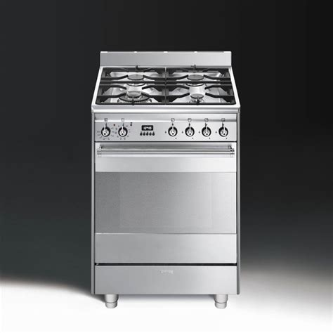 Oven Gas Ukuran 60 Cm smeg concert suk61px8 dual fuel 60cm pyrolytic single oven cooker stainless steel with chrome trim