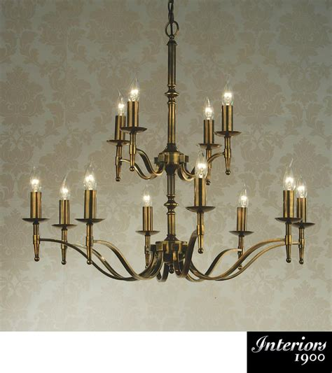 Interiors 1900 Stanford by Interiors 1900 Stanford 12 Light Chandelier Antique