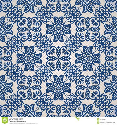 retro blue wallpaper uk vintage seamless background in blue stock vector image