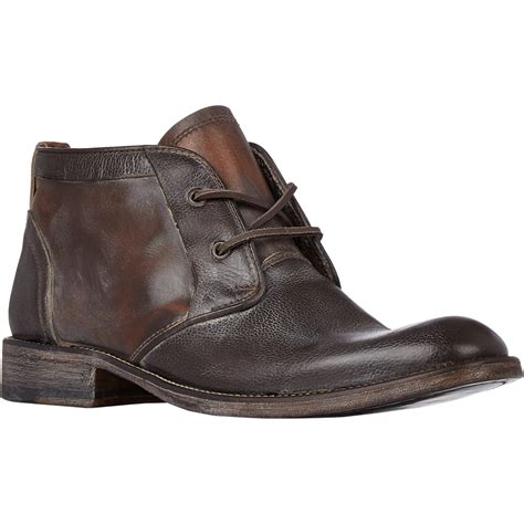 varvatos freeman edge chukka boots in brown for