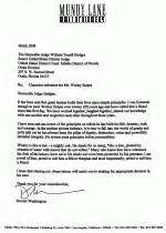 Character Letter For Bond Hearing Woody Denzel On Wesley The Gun