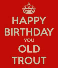 happy birthday you old trout keep calm and carry on
