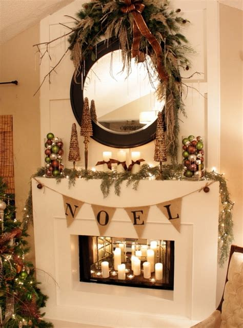 Inside Fireplace Decor | 50 christmas mantle decoration ideas