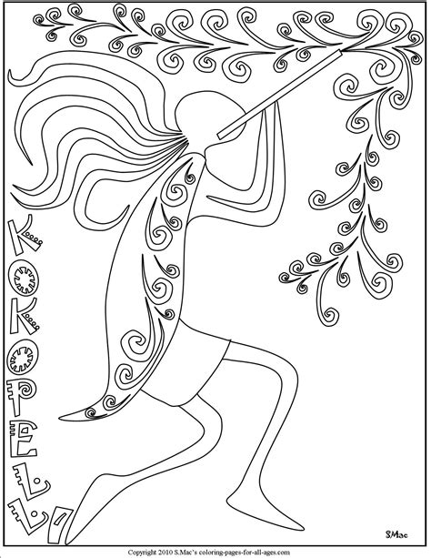 kokopelli coloring pages smacs place