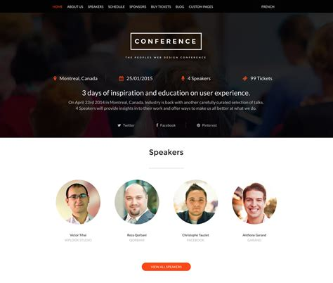 colour themes conf 30 awesome wordpress themes for conference and event 2017
