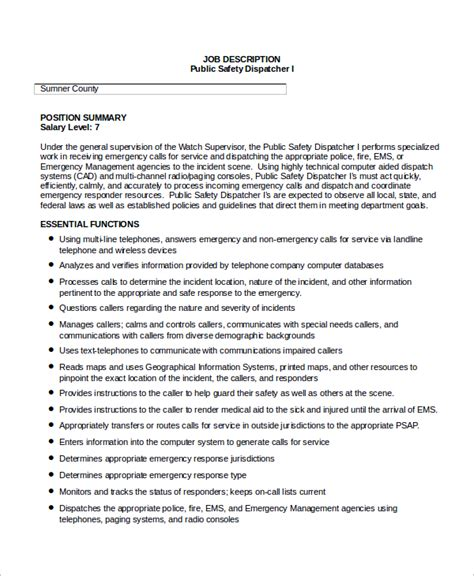 28 dispatcher description resume more dispatcher resume templates dispatcher description sle