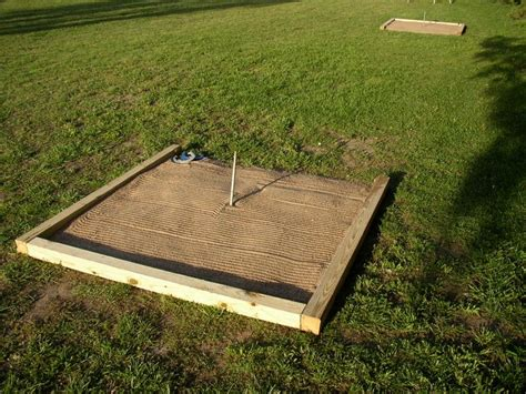 how to build a horseshoe pit in your backyard diy horseshoe pit horseshoe pits breezy creek farm
