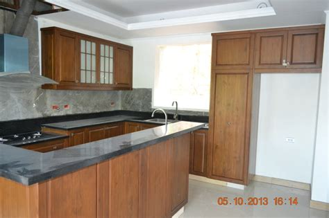 Island Built From Prefab Cabinets For The Home Modular Kitchen Cabinets Boracay Island Philippines Style Kitchen Cabinetry Other