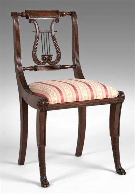 lyre back chairs antique important early 19th c american federal new york