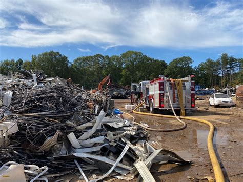 fire  augusta road recycling  piedmont caused  spark