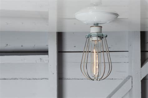 Industrial Cage Ceiling Light by Industrial Ceiling Mount Light Wire Cage Lighting By Indlights