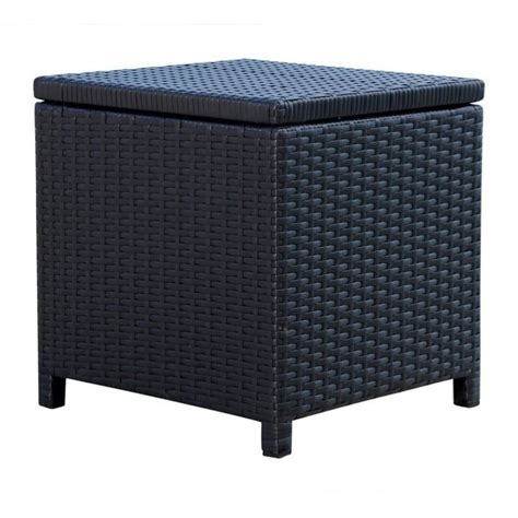 black wicker ottoman carlisle outdoor black wicker