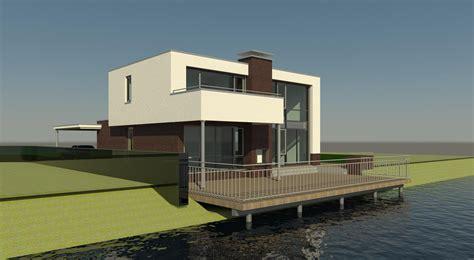 Sleutelklaar Huis Bouwen by Kubistische Watervilla Villa Moderne Villa Huis Bouwen
