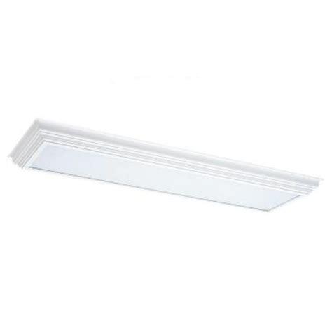 White Wood Cornice Sea Gull Lighting 2 Light White Wood Cornice Fluorescent
