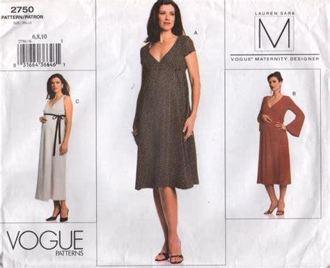 pattern pregnancy clothes misses vogue 2750 designer maternity wrap dress sewing