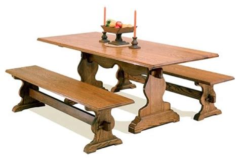 trestle bench plans r14 2355 trestle style dining table with benches vintage