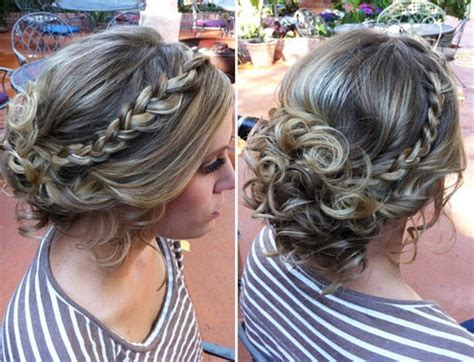 formal hairstyles messy bun with braid messy bun prom hairstyles