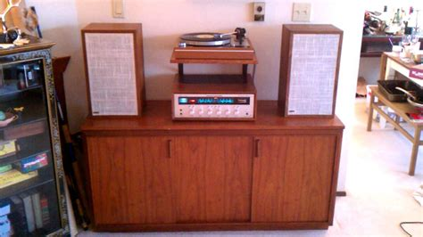stereo cabinet with turntable shelf vintage stereo now with turntable shelf