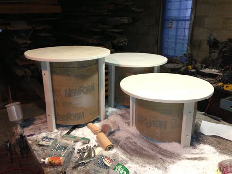 corian table tops sonotube and corian side tables random designs inc