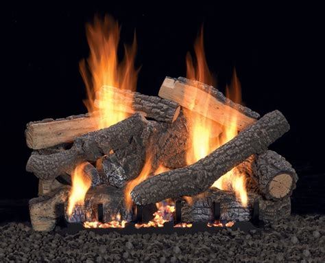 Ventless Fireplace Gas Logs by Empire 30 Quot Ponderosa Refractory Ventless Gas Log