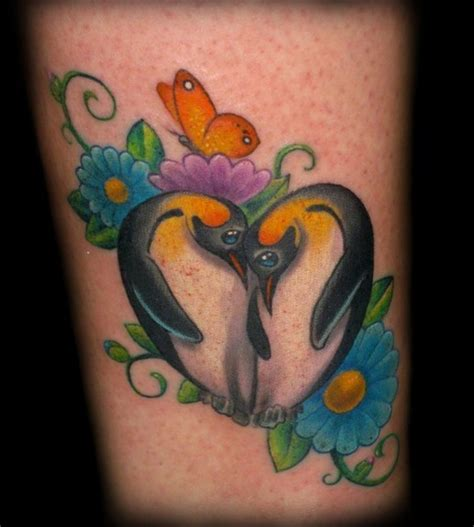 penguin tattoos for couples penguin by tim senecal tattoos