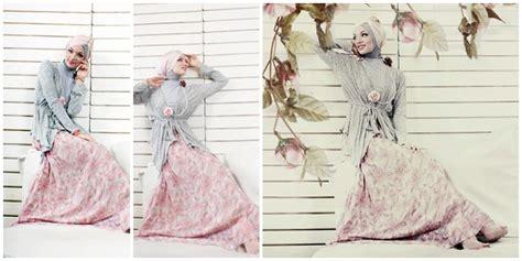 Kalung Burung Bunga Jilbab Panjang Sumni Fashion fashion penilan feminin dengan baju motif bunga rok merah muda lembut vemale