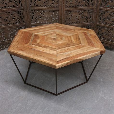 hexagonal coffee table nadeau