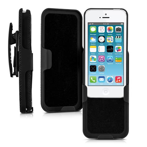 Hardcase Iphone 5 5s Simply belt clip for apple iphone se 5 5s black