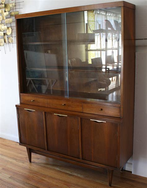 mid century modern china cabinet hutch from kent coffey s