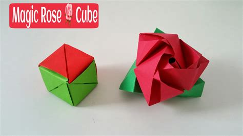 Origami Flower Cube - magic cube diy modular origami tutorial by paper